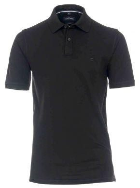 CASA MODA Ανδρική μαύρη πικέ πόλο μπλούζα (έως 7XL)