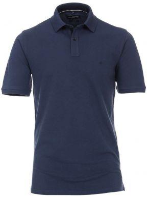 CASA MODA Ανδρική μπλέ πικέ πόλο μπλούζα  (έως 7XL)
