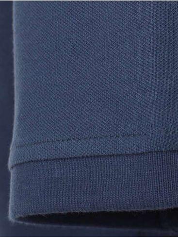 CASA MODA Ανδρική μπλέ μακριά άνετη μπλέ πικέ πόλο μπλούζα