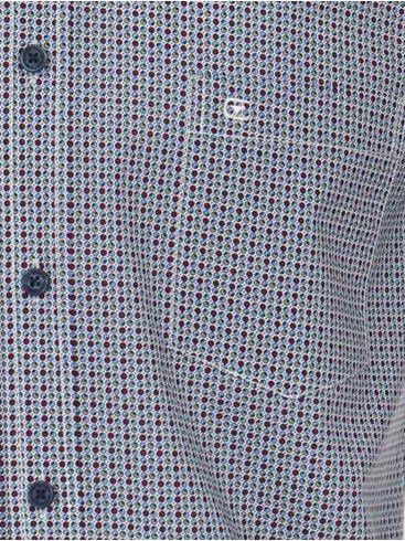 CASA MODA Ανδρικό γαλάζιο-κόκκινο καρό πουκάμισο (έως 7XL)