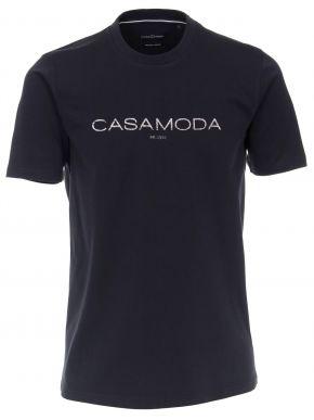 CASA MODA Ανδρική μπλέ navy κοντομάνικη μπλούζα t-shirt (έως 7XL)