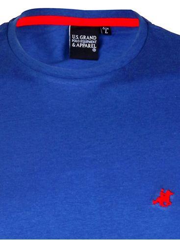 US GRAND Ανδρικό μπλέ κοντομάνικο T-Shirt μπλουζάκι