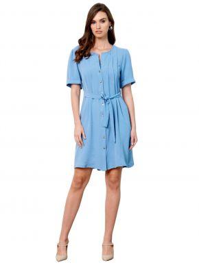 ANNA RAXEVSKY Γυναικεία φόρεμα σεμιζιέ D21104 Ltblue