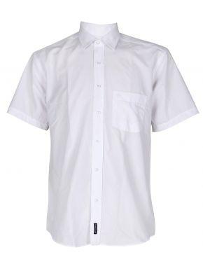 CANADIAN COUNTRY Ανδρικό λευκό κοντομάνικο πουκάμισο, regular fit