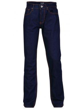 NEW YORK TAYLORS Ανδρικό σκούρο μπλέ ίσιο παντελόνι τζίν, τύπου Levis