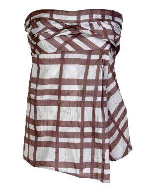 Γυναικείο μπέζ-εκρού στράπλες μπλουζάκι