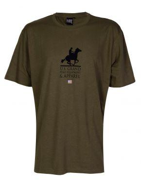 US GRAND Ανδρικό λαδί κοντομάνικο T-Shirt μπλουζάκι. UST 120 Nero