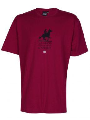 US GRAND Ανδρικό μπορντό κοντομάνικο T-Shirt μπλουζάκι. UST 120 Wine