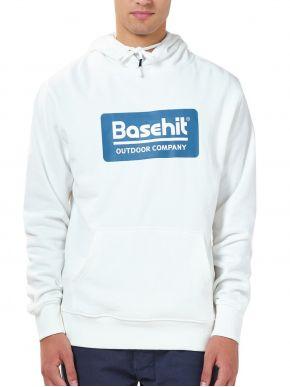 BASEHIT Ανδρικό λευκό φούτερ 202.BM20.10 White