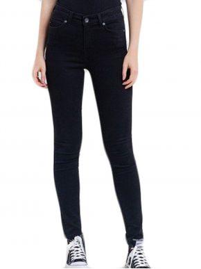 BIG STAR Γυναικείο μαύρο ελαστικό ψιλοκάβαλο skinny παντελόνι τζιν