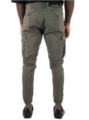 STEFAN Ανδρικό ανθρακί ελαστικό cargo παντελόνι