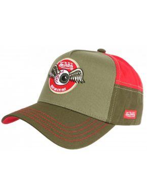 VON DUTCH Λαδί-κόκκινο καπέλο