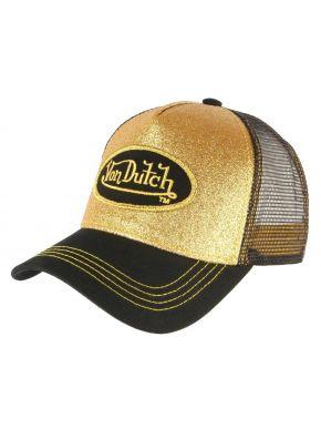 VON DUTCH Χρυσό γυαλιστερό καπέλο