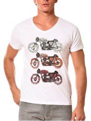 VON DUTCH Ανδρικό λευκό κοντομάνικο μπλουζάκι T-Shirt.