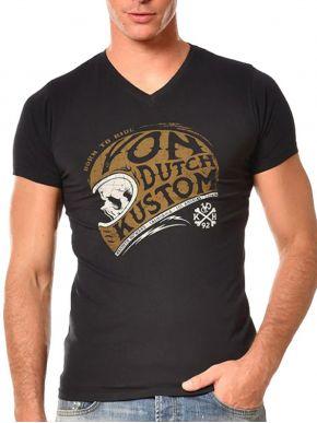 VON DUTCH Ανδρικό μαύρο κοντομάνικο μπλουζάκι T-Shirt