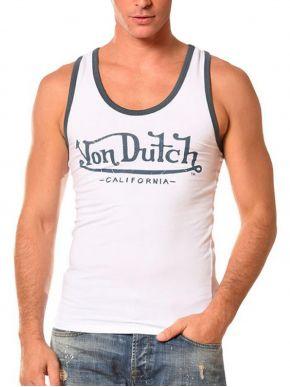VON DUTCH Ανδρικό λευκό αθλητικό μπλουζάκι