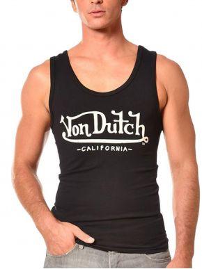 VON DUTCH Ανδρικό μαύρο αθλητικό μπλουζάκι