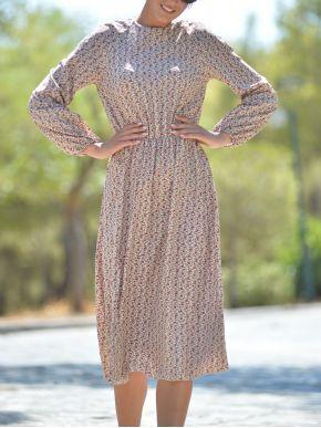 ESQUIVO Φλοράλ μακρυμάνικο φόρεμα