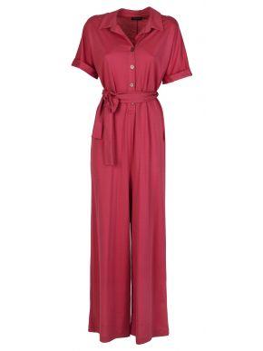 ESQUIVO Φούξια κοντομάνικη ολόσωμη φόρμα παντελόνα