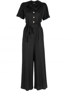 ESQUIVO Μαύρη μακρυμάνικο φόρεμα