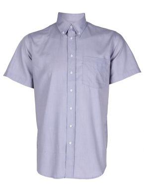 NEW YORK TAYLORS Ανδρικό γκρί ανοιχτό κοντομάνικο πουκάμισο
