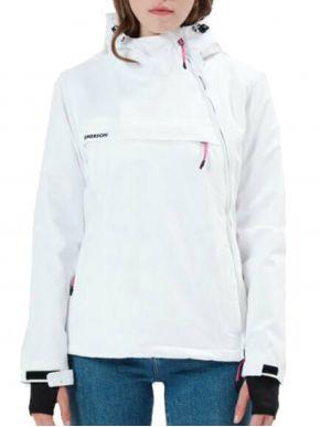 EMERSON Γυναικείο λευκό μπουφάν, κουκούλα. 212EW10.62 White