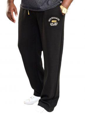 DUKE Ανδρικό μαύρο παντελόνι φόρμας, τσέπες  (εως 7XL) SALTASH 2 D555 411003.