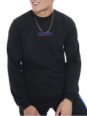 NAUTICA Competition Ανδρική μαύρη μακρυμάνικη μπλούζα N7E00468 Black