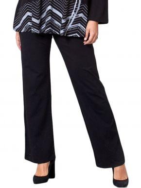 ANNA RAXEVSKY Γυναικείο μαύρο ελαστικό παντελόνι με μπάσκα T21200 Black