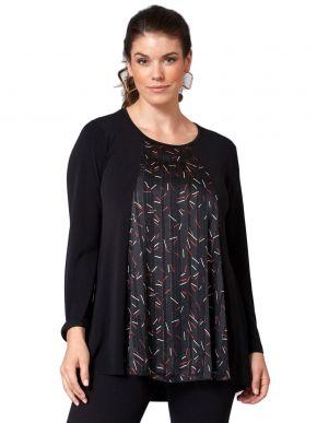 ANNA RAXEVSKY Γυναικείο εμπριμέ μπλούζα, μουσελίνα lurex B21213
