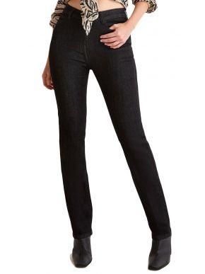 SARAH LAWRENCE Γυναικείο μαύρο ελαστικό παντελόνι τζιν 2-25001