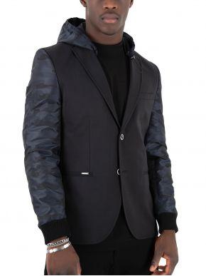 STEFAN Ανδρικό μαύρο μεσάτο σακάκι 1011