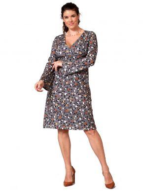 ANNA RAXEVSKY Εμπριμέ κρουαζέ φόρεμα D21205