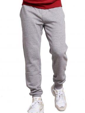 FUNKY BUDDHA Ανδρικό γκρί φούτερ παντελόνι φόρμας FBM002-031-02 GREY MEL