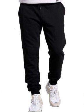 FUNKY BUDDHA Ανδρικό μαύρο φούτερ παντελόνι φόρμας FBM002-031-02 Black