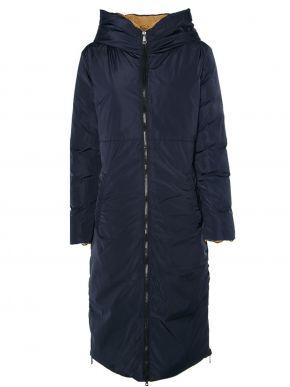 RINO PELLE Ολλανδικό γυναικείο μπλέ navy ζεστό διπλής όψης μπουφάν Keila 700W21.
