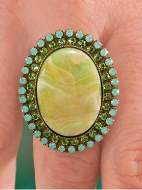 Χειροποίητο δαχτυλίδι Swarovski